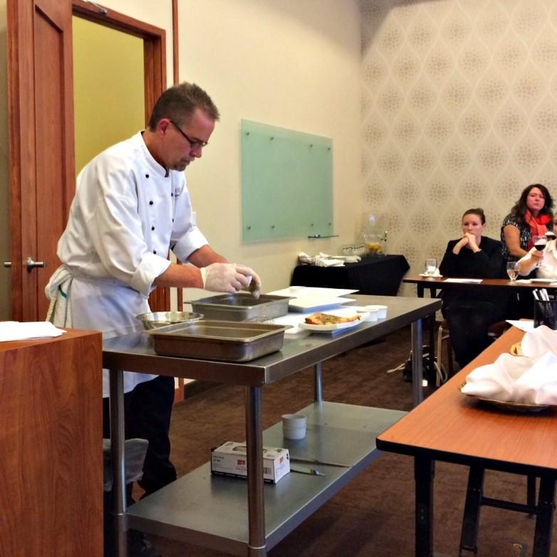 Chef Rich preparing the gravlox